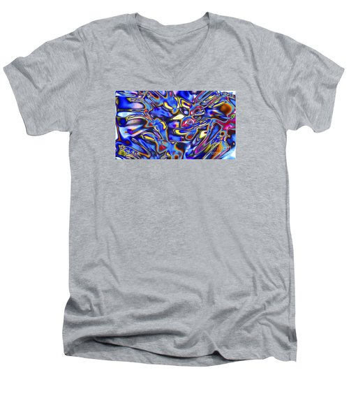 Quantum Entangled Soul... Men's V-Neck T-Shirt