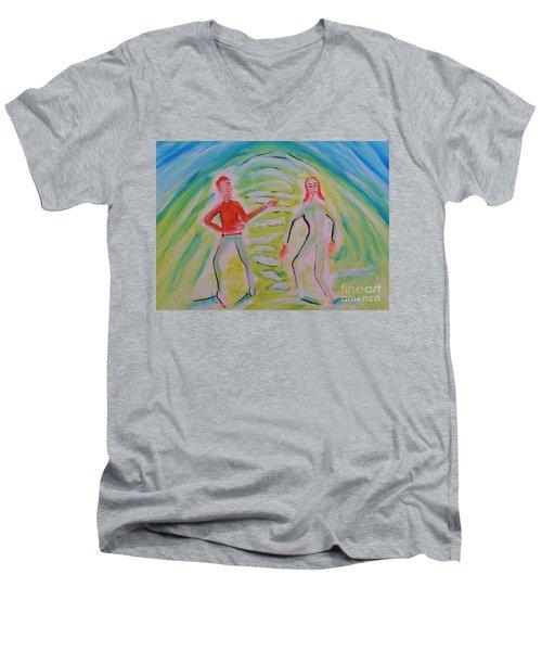 Quantum Entanglement Men's V-Neck T-Shirt
