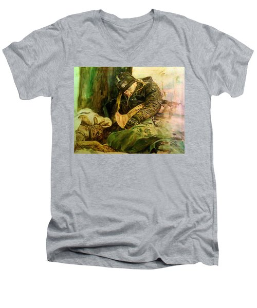 Quarter Million Homeless 2017 Men's V-Neck T-Shirt