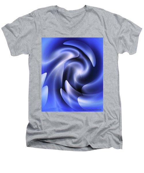 Quarter Moon Men's V-Neck T-Shirt