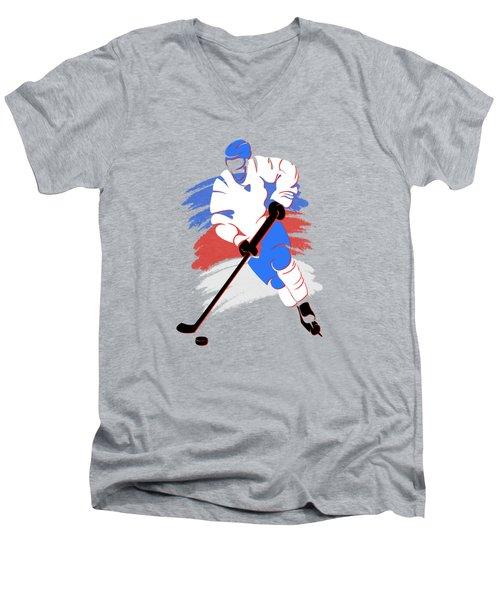 Quebec Nordiques Player Shirt Men's V-Neck T-Shirt