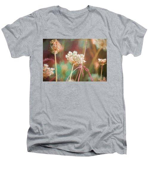 Queen Anne Impasto Men's V-Neck T-Shirt by Bonnie Bruno