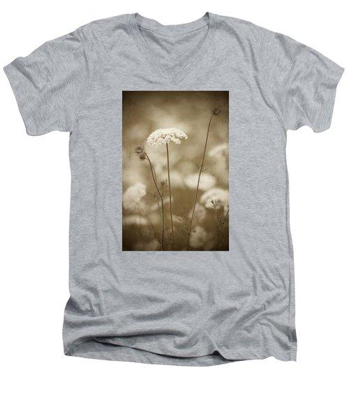 Queen Anne Lace Men's V-Neck T-Shirt