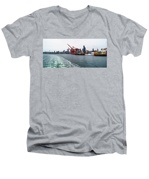 Queen City Men's V-Neck T-Shirt