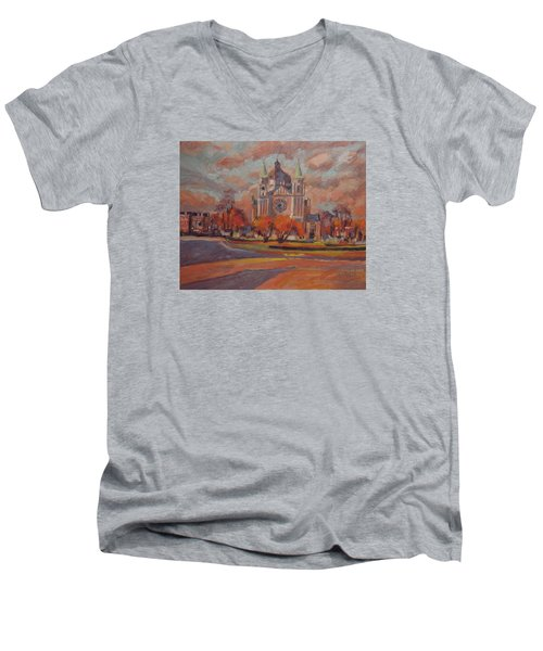 Queen Emma Square In Autumn Colours Men's V-Neck T-Shirt by Nop Briex