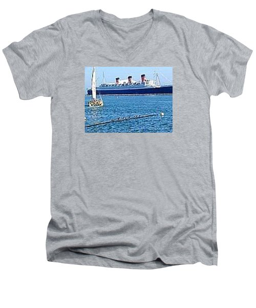 Queen Mary Men's V-Neck T-Shirt