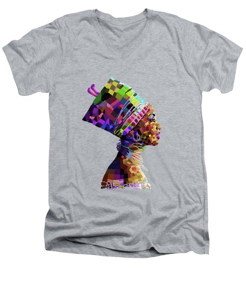 Queen Nefertiti Men's V-Neck T-Shirt