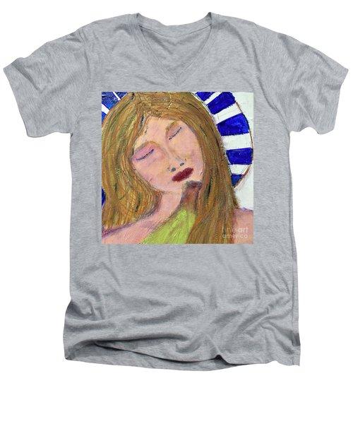 Queen Serene Men's V-Neck T-Shirt