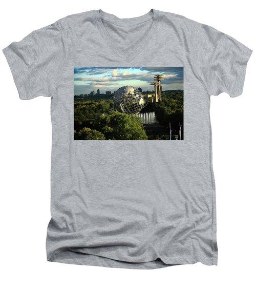 Queens New York City - Unisphere Men's V-Neck T-Shirt