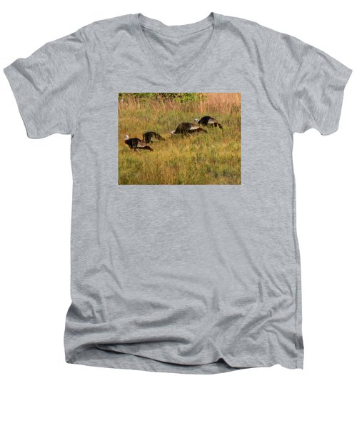 Quick Hide It's Thanksgiving Men's V-Neck T-Shirt
