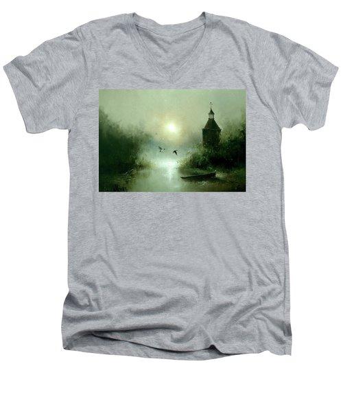 Quiet Abode Men's V-Neck T-Shirt