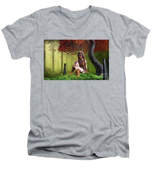 Quiet Men's V-Neck T-Shirt