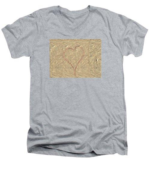 Tranquil Heart Men's V-Neck T-Shirt