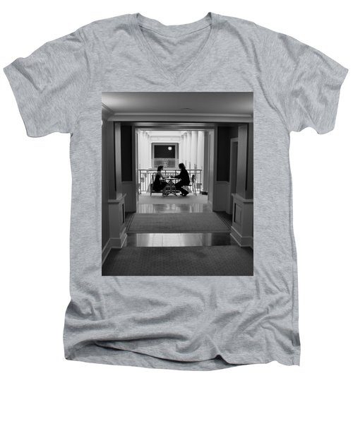 Quiet Moment Men's V-Neck T-Shirt