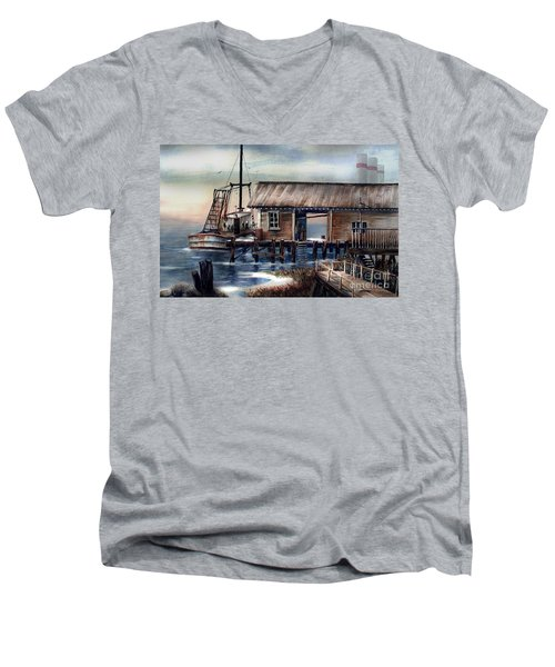 Quiet Pacific Dockside Men's V-Neck T-Shirt