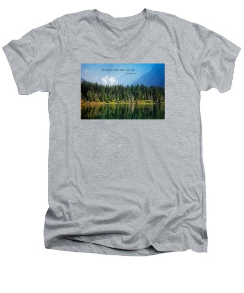 Men's V-Neck T-Shirt featuring the photograph Quiet Reflections 2 by Lynn Hopwood