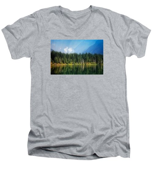 Men's V-Neck T-Shirt featuring the photograph Quiet Reflections  by Lynn Hopwood
