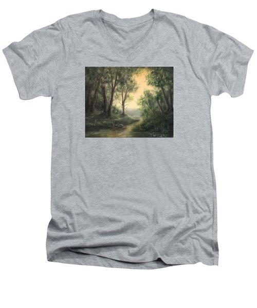 Quiet Stream  Men's V-Neck T-Shirt