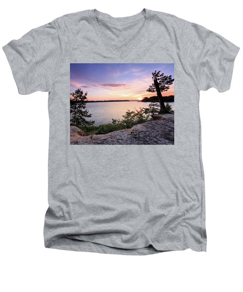 Quiet Waters Crop Men's V-Neck T-Shirt