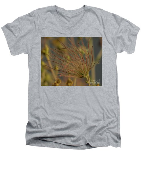 Quirky Red Squiggly Flower 4 Men's V-Neck T-Shirt