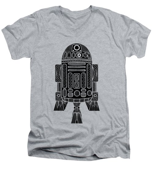 R2 D2 - Star Wars Art Men's V-Neck T-Shirt