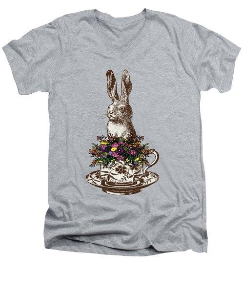 Rabbit In A Teacup Men's V-Neck T-Shirt