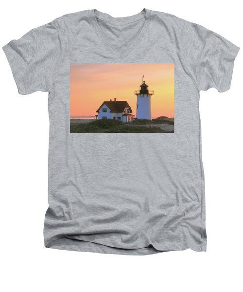 Men's V-Neck T-Shirt featuring the photograph Race Point Light by Roupen  Baker