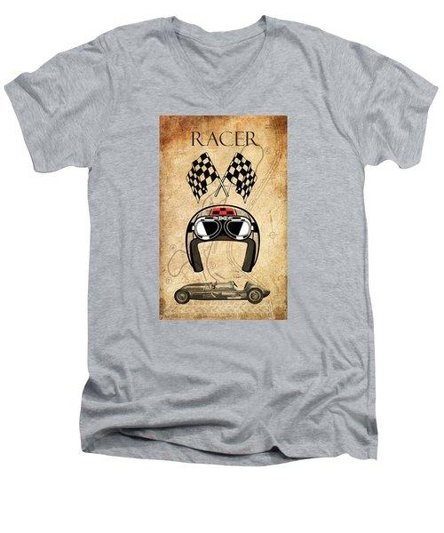 Racer Men's V-Neck T-Shirt