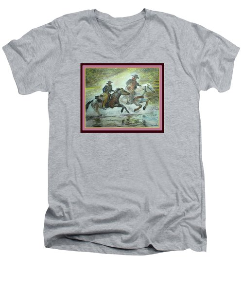 Racing Through The Water Men's V-Neck T-Shirt