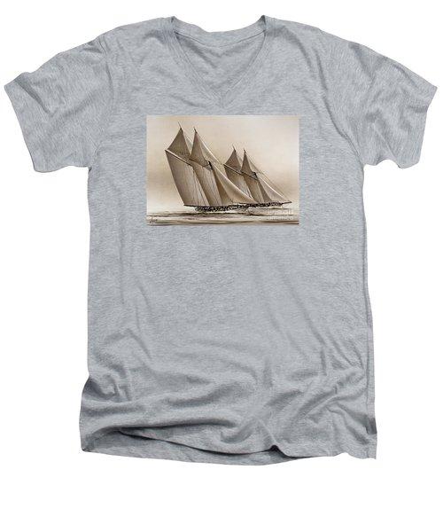 Racing Yachts Men's V-Neck T-Shirt