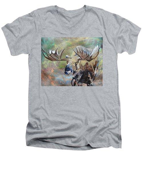 Rack And Roll Men's V-Neck T-Shirt by Stuart Engel