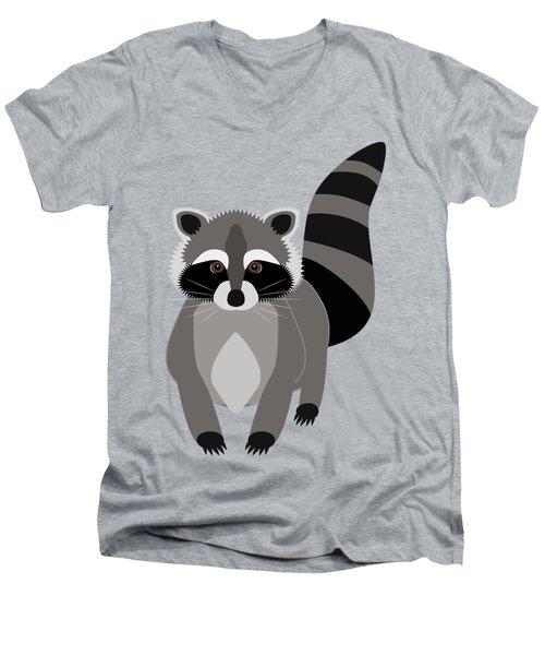 Raccoon Mischief Men's V-Neck T-Shirt
