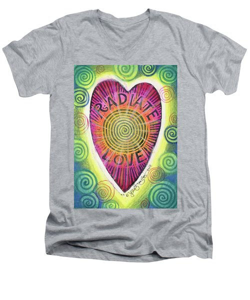 Radiate Love Men's V-Neck T-Shirt