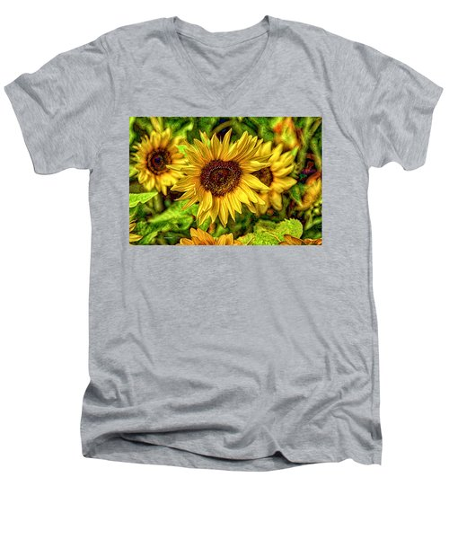 Radiate Love To The World Men's V-Neck T-Shirt