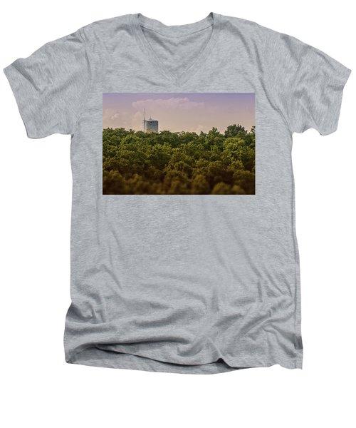 Radioactive Landscape Men's V-Neck T-Shirt