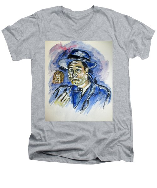 Radio's Sam Spade Men's V-Neck T-Shirt by Clyde J Kell