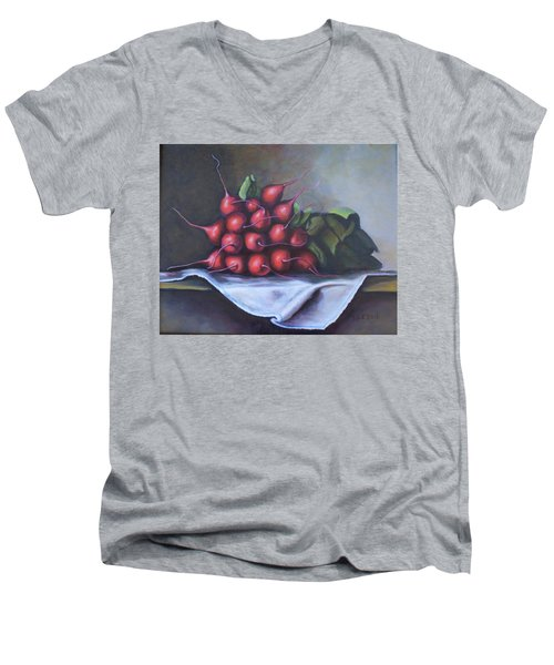 Radishes From The Garden Men's V-Neck T-Shirt