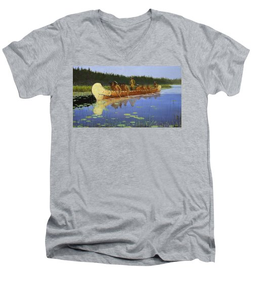 Radisson And Groseilliers Men's V-Neck T-Shirt