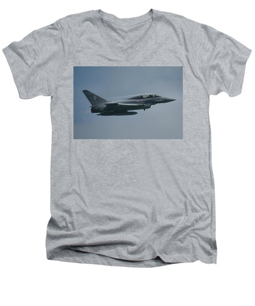 Men's V-Neck T-Shirt featuring the photograph Raf Eurofighter Typhoon T1  by Tim Beach