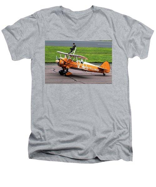 Raf Scampton 2017 - Breitling Wingwalkers At Rest Men's V-Neck T-Shirt