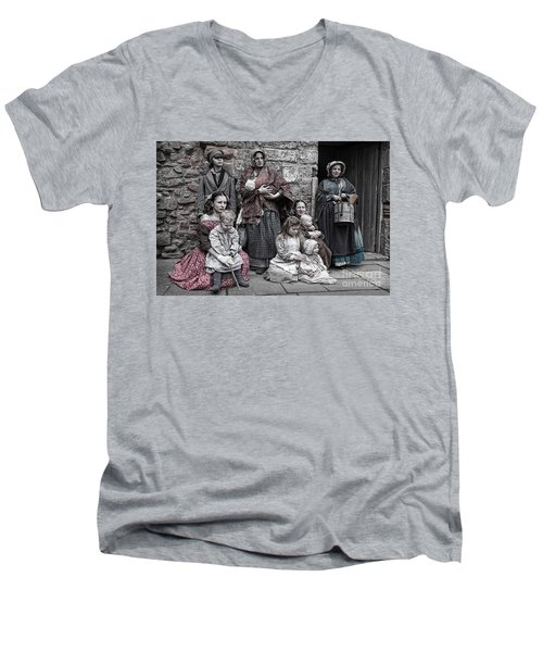 Ragged Victorians 7 Men's V-Neck T-Shirt
