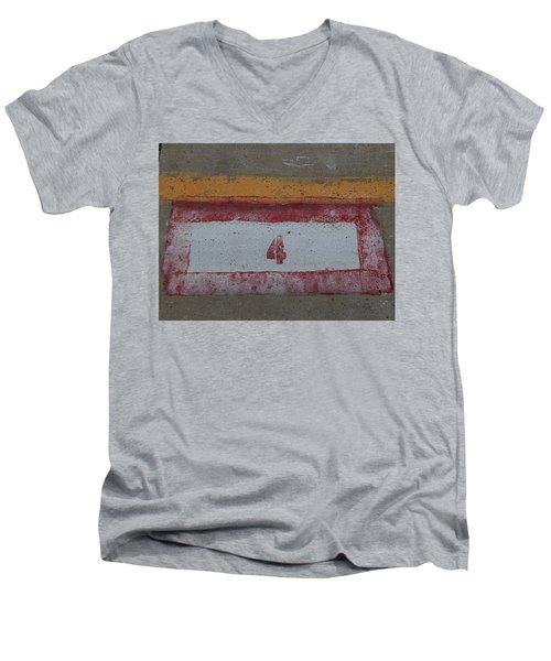 Railroad Art Men's V-Neck T-Shirt