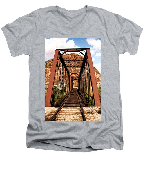 Railroad Bridge Men's V-Neck T-Shirt