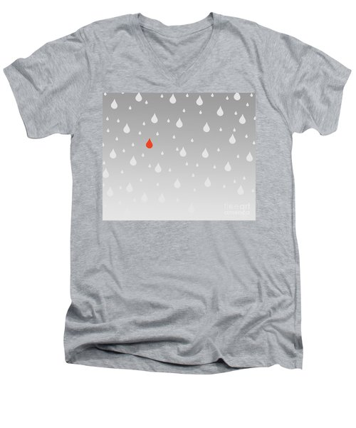 Men's V-Neck T-Shirt featuring the painting Rain And Tears by Trilby Cole