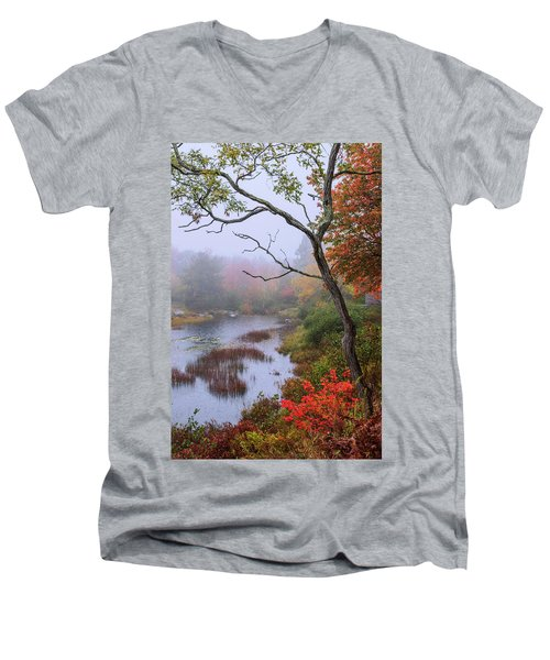 Men's V-Neck T-Shirt featuring the photograph Rain by Chad Dutson