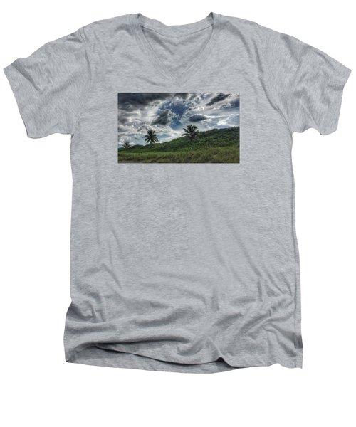 Rain Clouds Men's V-Neck T-Shirt