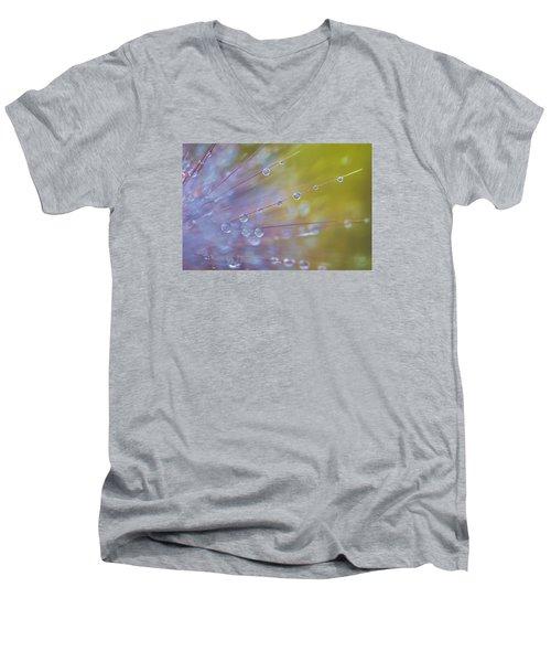 Rain Drops - 9753 Men's V-Neck T-Shirt by G L Sarti