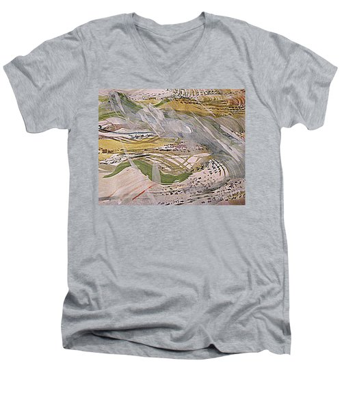 Rain In The  Valley Men's V-Neck T-Shirt