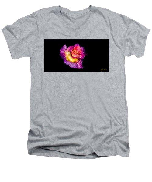 Rain-melted Rose Men's V-Neck T-Shirt