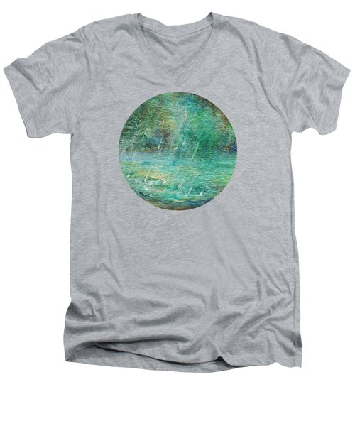 Rain On The Pond Men's V-Neck T-Shirt